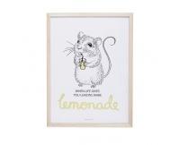 BLOOMINGVILLE Obrazek w ramce Myszka - Lemonade