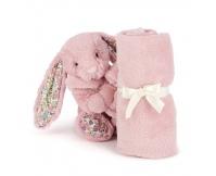 JELLYCAT Różowy kocyk z króliczkiem Blossom Tulip Bunny