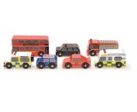 LE TOY VAN Zestaw drewnianych pojazdów - London Car Set