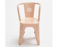 MAILEG Metalowe krzesełko - pudrowy róż
