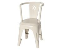 MAILEG Metalowe krzesełko - białe