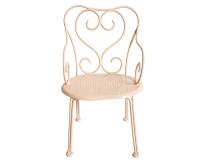 MAILEG Metalowe romantyczne krzesełko - pudrowy róż