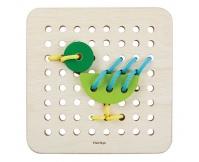 Plan Toys Drewniany zestaw do nauki sznurowania