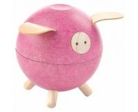 PLAN TOYS Skarbonka świnka - kolor różowy