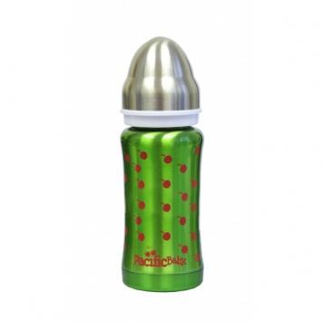 "PACIFICBABY Zielona Termobutelka 200 ml ""Cherries"""