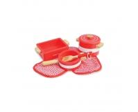INDIGO JAMM Drewniane naczynia kuchenne - czerwone