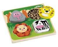 """TIDLO Puzzle """"Dotknij i poczuj"""" - Safari"""