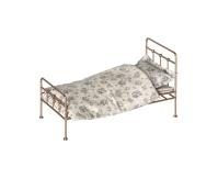 MAILEG Metalowe łóżeczko vintage złote, Mini
