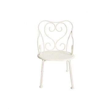 MAILEG Metalowe romantyczne Krzesełko -  białe