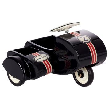 MAILEG Metalowy skuter z przyczepką, czarny