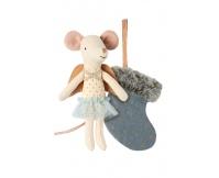 MAILEG Myszka - Aniołek w niebieskiej skarpecie