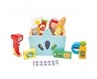 LE TOY VAN Koszyk zakupowy z produktami i czytnik kodów kreskowych