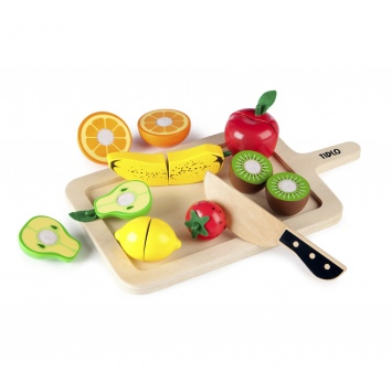 TIDLO Drewniane owoce do krojenia