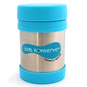 KIDS KONSERVE Pojemnik na żywność z termoizolacją - błękitny