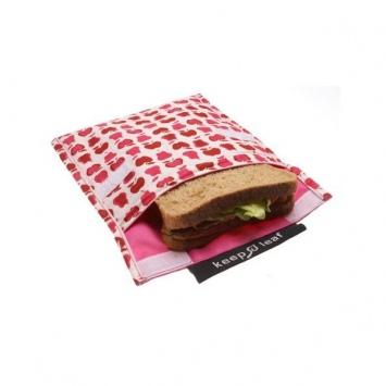 KEEP LEAF Duża eko-torebka śniadaniowa - owoce