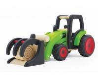 PINTOY Drewniany traktor - ładowarka