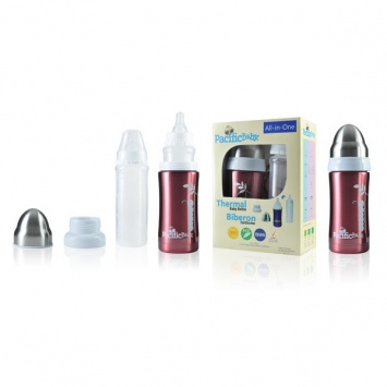 PACIFICBABY Termobutelka 200 ml All in One - Wiśniowa