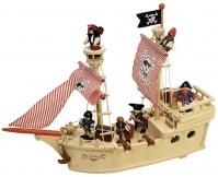 TIDLO Drewniany statek piracki