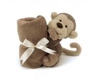 """JELLYCAT Kocyk z przytulanką """"Bashful Monkey"""""""