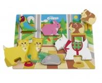TIDLO Drewniane grube puzzle - Domowe Pupile