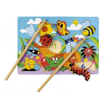 """TIDLO Drewniane puzzle magnetyczne """"Złap owady"""""""