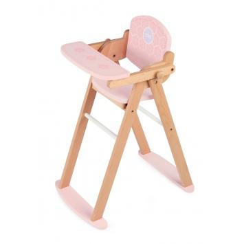 TIDLO Drewniane krzesełko do karmienia lalek