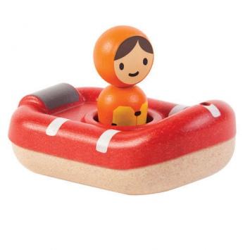 PLAN TOYS Drewniana łódź ratownicza, zabawka do kąpieli