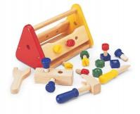PINTOY Drewniana skrzynka z narzędziami