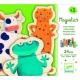 DJECO Drewniane puzzle magnetyczne - Szalone Zwierzątka