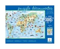 """DJECO Puzzle """"Zwierzęta świata"""" - 100 elementów"""