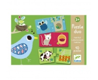 DJECO Puzzle Duo Zwierzęta i ich mieszkania