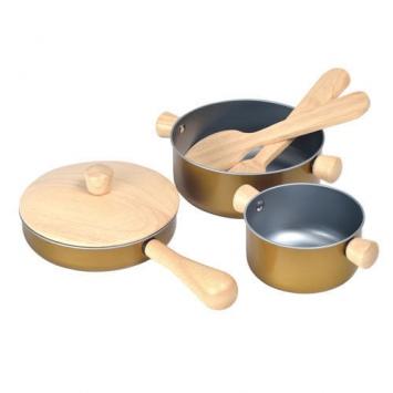 PLAN TOYS Drewniane naczynia kuchenne
