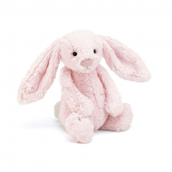 JELLYCAT Jasnoróżowy króliczek Bashful Bunny (średni 28 cm)