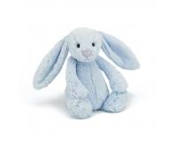 JELLYCAT Niebieski króliczek Bashful Bunny (średni 28 cm)