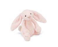 JELLYCAT Króliczek - grzechotka Bashful Pink Bunny