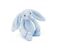 JELLYCAT Króliczek - grzechotka Bashful Blue Bunny