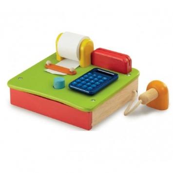 WONDERWORLD Drewniana kasa sklepowa z kalkulatorem