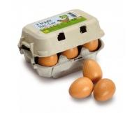 ERZI Jaja brązowe 6 szt. w wytłoczce