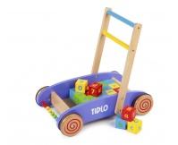 TIDLO Wózek z klockami ABC