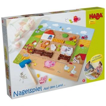 HABA Przybijanka z puzzlami - Na farmie