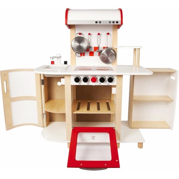 Wielofunkcyjna drewniana kuchnia dla dzieci marki Hape -> Kuchnia Dla Dzieci Drewniana Allegro