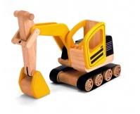 PINTOY Koparka - drewniany pojazd budowlany
