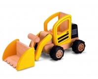 PINTOY Koparkoładowarka - drewniany pojazd budowlany
