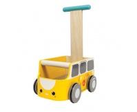 PLAN TOYS Drewniany chodzik, Van żółty