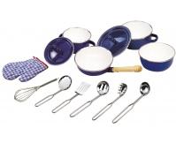 TIDLO Zestaw naczyń i akcesoriów kuchennych - granatowy