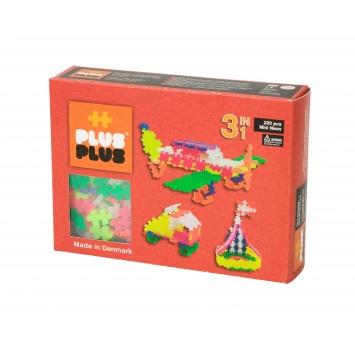 PLUS-PLUS Klocki mini neon 3w1 - zestaw 220 szt.