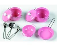 TIDLO Zestaw naczyń i akcesoriów kuchennych - różowy