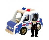 PINTOY Drewniany radiowóz z policjantem
