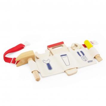 PINTOY Pas z drewnianymi narzędziami