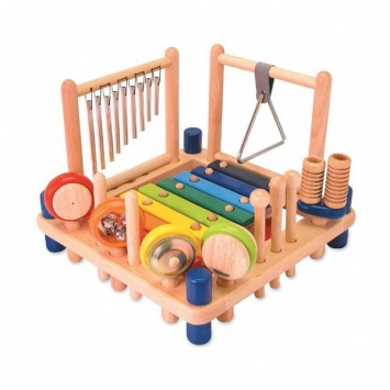 I'M TOY Drewniane centrum aktywności - instrumenty muzyczne